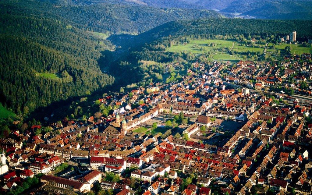 Luftaufnahme von Freudenstadt