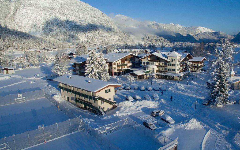 Blick auf den Gasthof Bad Hochmoos in St. Martin bei Lofer