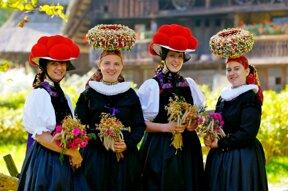 Mädchen in Schwarzwald Tachten