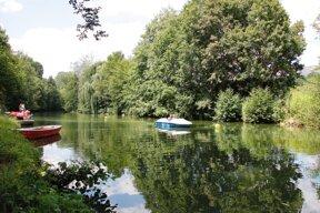 Tretbootfahren auf der Tauber c Stadt Bad Mergentheim Andi Schmid