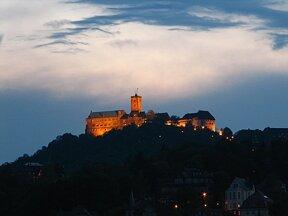 Wartburg bei Nacht