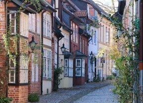 Gasse in der Altstadt von Lüneburg