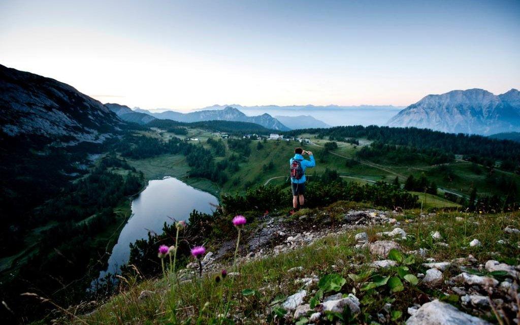 Blick auf die Landschaft in der Steiermark