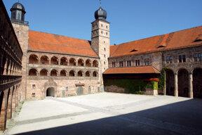Kulmbach Plassenburg schöner Hof