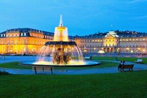 Schlossplatz in der Dämmerung  ©Stuttgart-Marketing GmbH