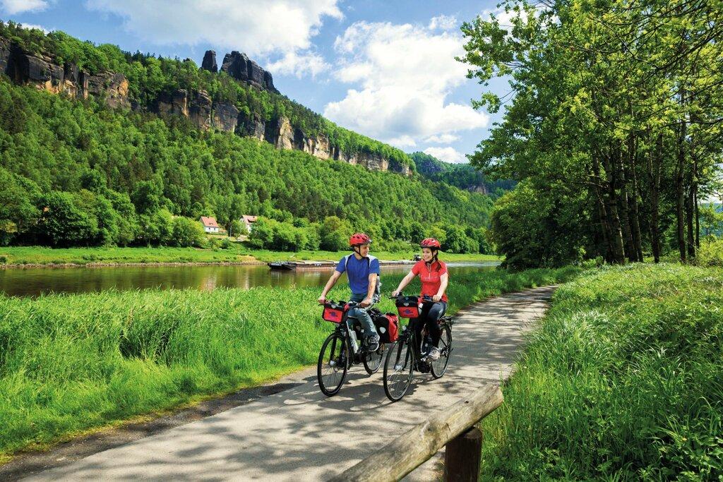 Fahrrad Elbsandsteingebirge c Sylvio Dittrich