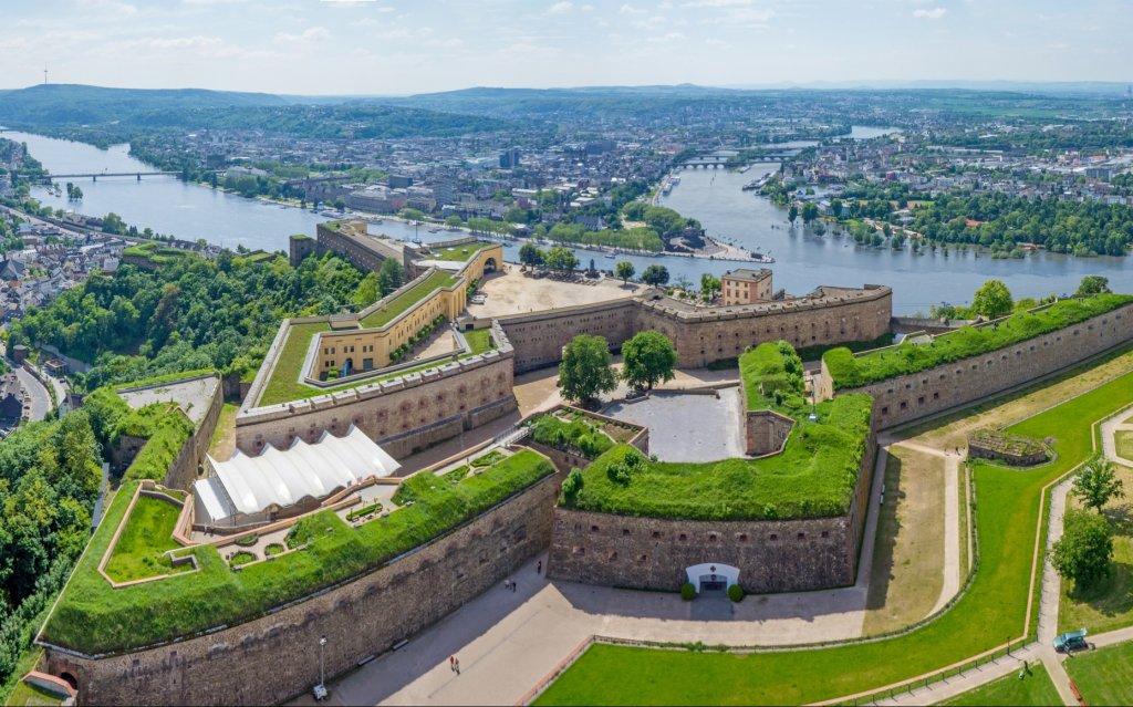 Koblenz Festung Ehrenbreitstein Luftbild