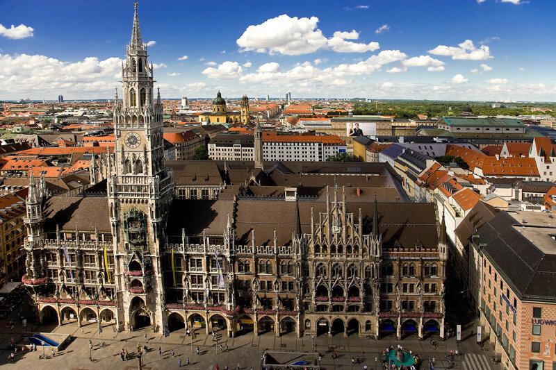 Rathaus und Marienplatz München