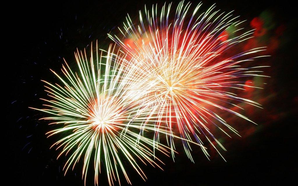 Feuerwerk in Marienbad