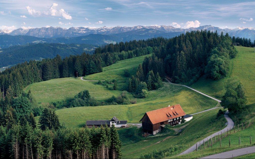 Blick vom Pfänder in den Bregenzerwald