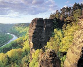Blick auf Elbe