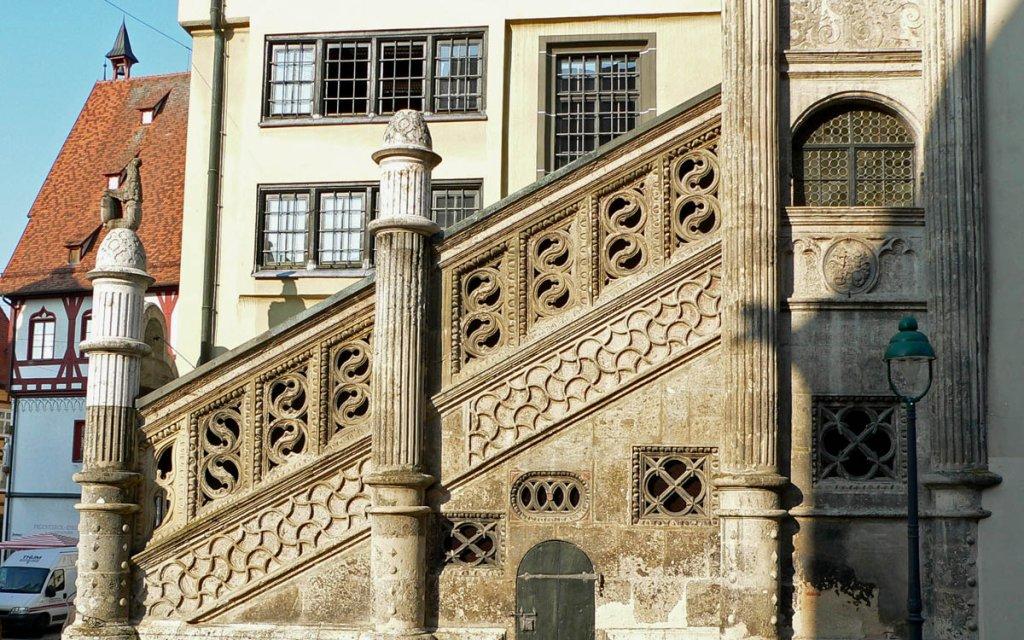 Nördlingen Rathaustreppe