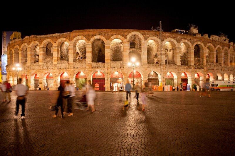 Arena Verona Provincia di Verona bei Nacht