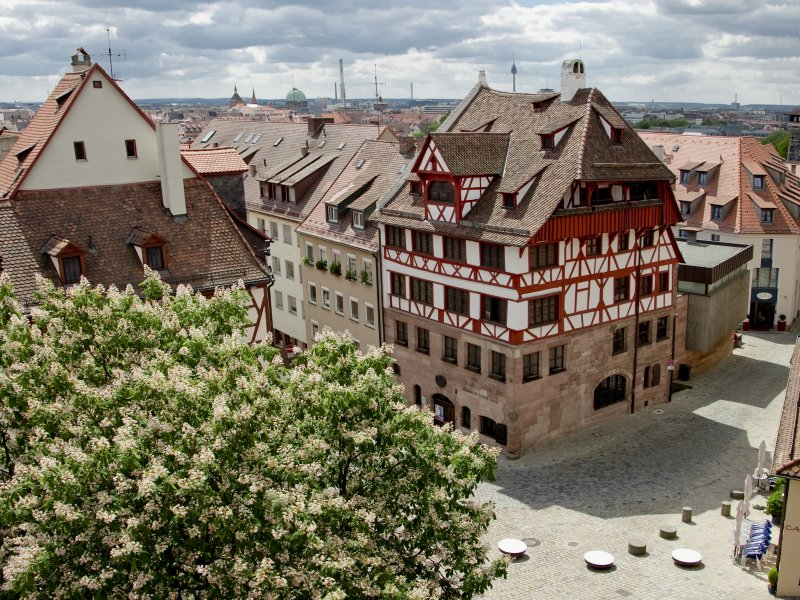 Albrecht Duerer Haus von oben