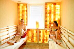 Pärchen in der Sauna