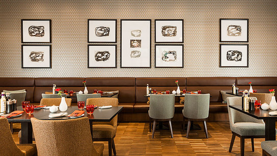 Restaurant drinnen Wand