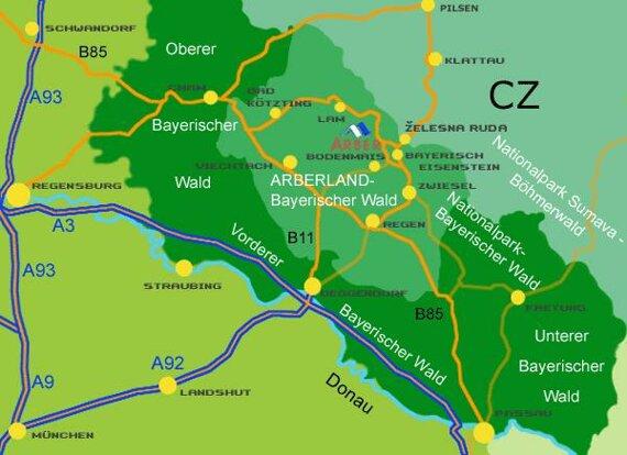 Arberland Karte